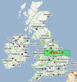 伦敦大学手绘地图