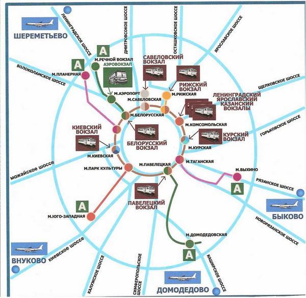 莫斯科机场地图