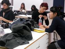 中国学生在NABA上课